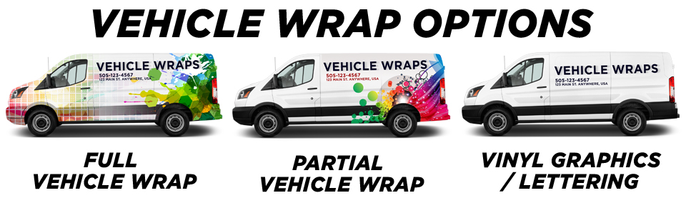 Bradford Vehicle Wraps vehicle wrap options