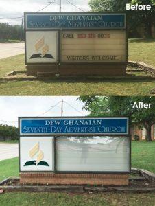 custom church monument sign
