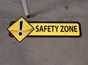 Borden Indoor Signs safety floor vinyl graphics 300x220